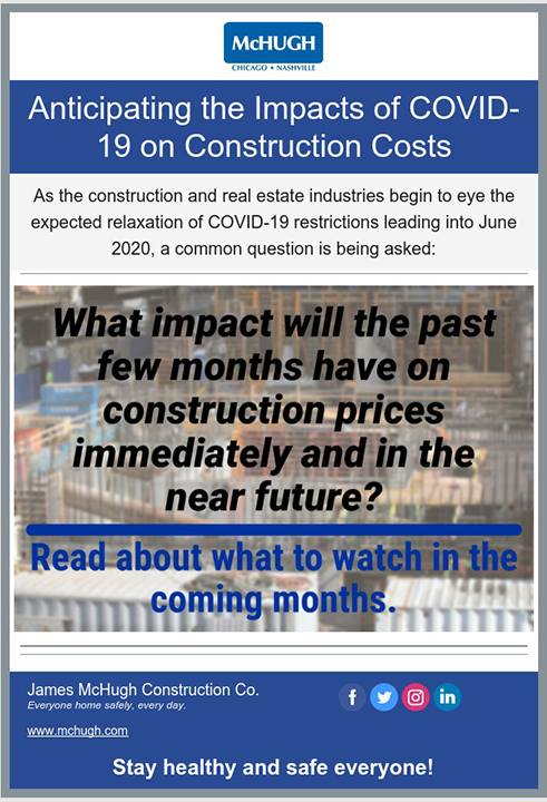 COVID 19 Impacts on Construction Costs