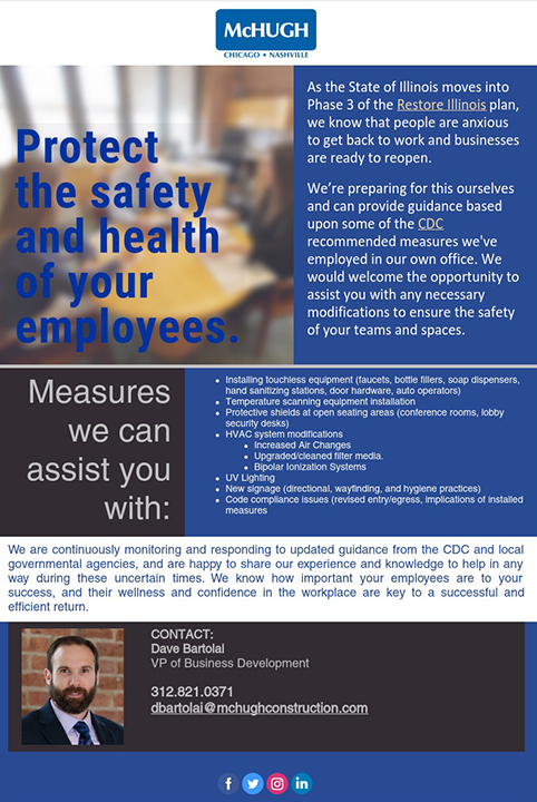 Let McHugh Help You Protect Your Employees
